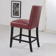 Bellasario Collection Luxury 29'' Bar Stool; Red