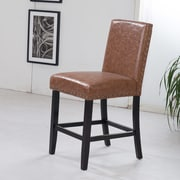 Bellasario Collection Luxury 29'' Bar Stool; Brown