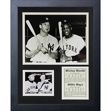 Legends Never Die Mickey Mantle and Willie Mays Framed Memorabilia