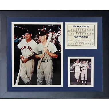 Legends Never Die Mickey Mantle and Ted Williams Framed Memorabilia