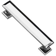 Southern Hills Hardware Englewood 4'' Center Bar Pull (Set of 10); Polished Chrome