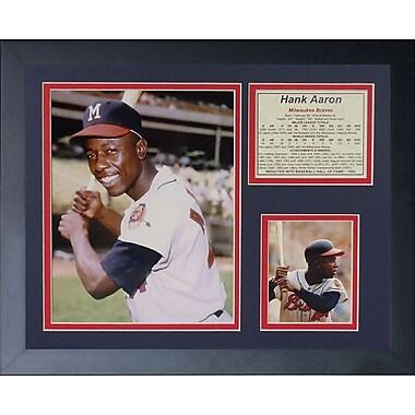 Legends Never Die Hank Aaron - Young Framed Memorabilia
