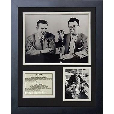 Legends Never Die Jack Buck and Harry Caray Framed Memorabilia