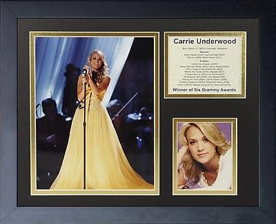 Legends Never Die Carrie Underwood Framed Memorabilia