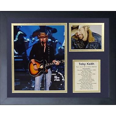 Legends Never Die Toby Keith Framed Memorabilia