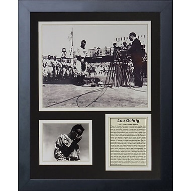 Legends Never Die Lou Gehrig Farewell Framed Memorabilia