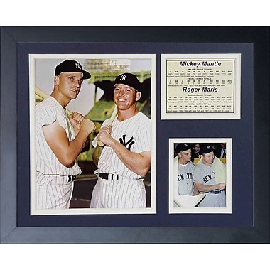 Legends Never Die Mickey Mantle and Roger Maris Bats Framed Memorabilia