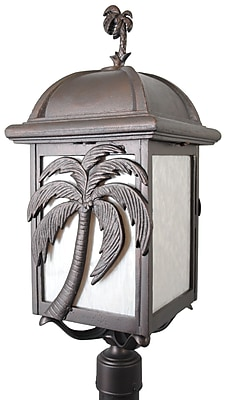 Melissa Americana Palm Tree Series 3-Light Lantern Head; Patina Bronze