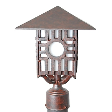 Melissa Americana Zia Series 1-Light Lantern Head; Rusty Nail