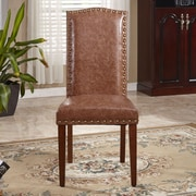 Bellasario Collection Elegant Parsons Chair (Set of 2); Espresso