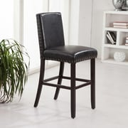 Bellasario Collection Luxury 29'' Bar Stool; Black