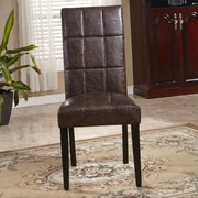 Bellasario Collection Classic Waxed Texture Parsons Chair (Set of 2)