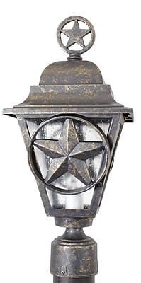 Melissa Americana Lone Star Series 1-Light Lantern Head; Rusty Nail