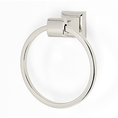 Alno Manhattan Wall Mounted Towel Ring; Polished Nickel