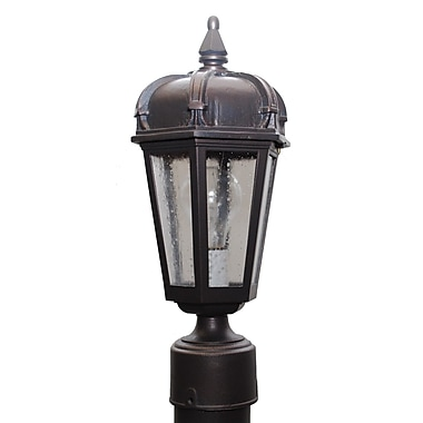 Melissa Kiss Series 1-Light Lantern Head; Black