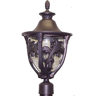 Melissa Tuscany 3-Light Lantern Head; Architectural Bronze