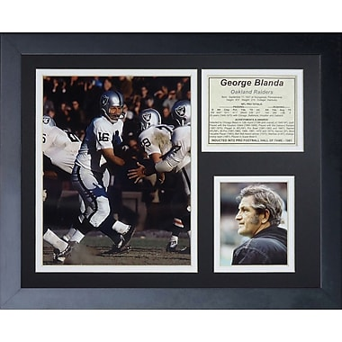 Legends Never Die George Blanda Framed Memorabilia