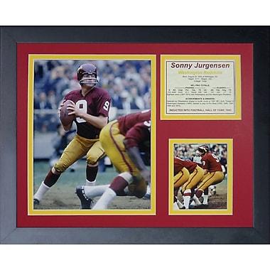 Legends Never Die Sonny Jurgenson Framed Memorabilia