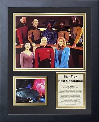 Legends Never Die Star Trek Next Generation Crew Framed Memorabilia