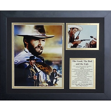 Legends Never Die The Good Bad and the Ugly Framed Memorabilia