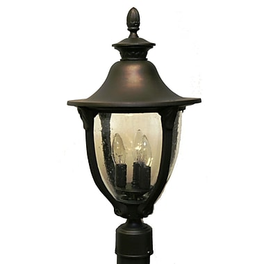 Melissa Tuscany 4-Light Lantern Head; Patina Bronze