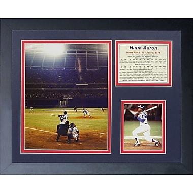 Legends Never Die Hank Aaron - 715th Home Run Framed Memorabilia