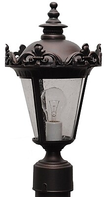 Melissa Parisian Elegance 1-Light Lantern Head; Black