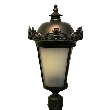 Melissa Parisian Elegance 3-Light Lantern Head; Black