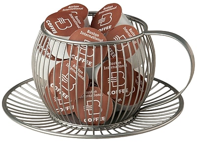 Boston International Wire Cup & Saucer K-Cup Pod Holder