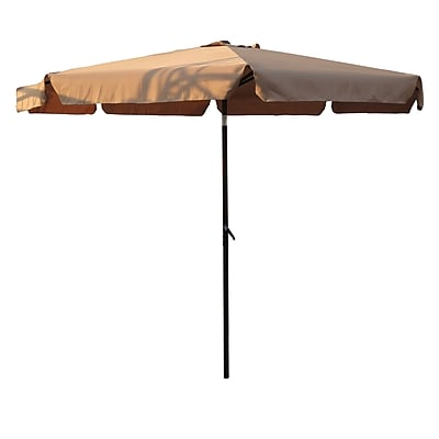 International Caravan 10' St. Kitts Drape Umbrella; Khaki