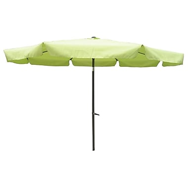 International Caravan 10' St. Kitts Drape Umbrella; Lime Green