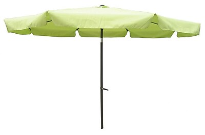 International Caravan 10' St. Kitts Drape Umbrella; Lime Green