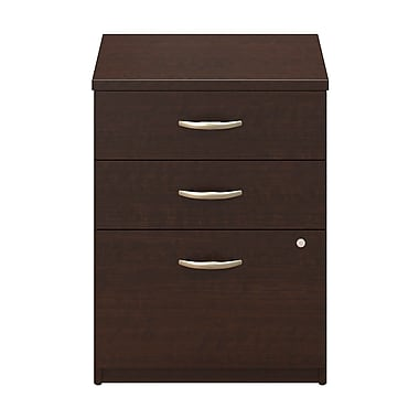 Bush® Business Westfield Elite 24W 3-Drawer Pedestal, Mocha Cherry