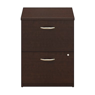 Bush® Business Westfield Elite 24W 2 Drawer Pedestal, Mocha Cherry, Pre Assembled