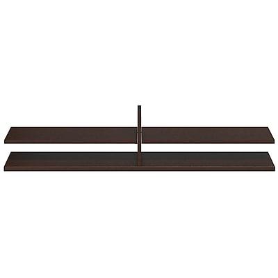 Bush Business Furniture Westfield Elite 60W x 12.5D Standing Table Desk Shelf Kit, Mocha Cherry (WC12916FA)