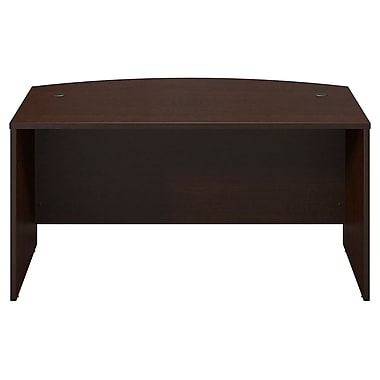 Bush® Business Westfield Elite 60W x 36D Bow Front Desk Shell, Mocha Cherry