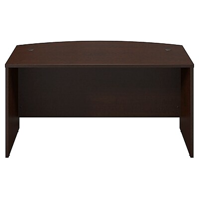 Bush Business Furniture Westfield Elite 60W x 36D Bow Front Desk, Mocha Cherry (WC12905)