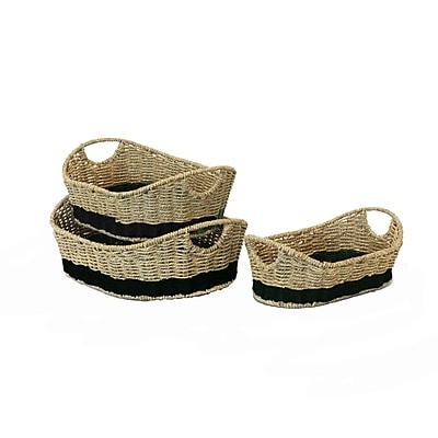 Baum Seagrass Basket Set Natural & Black