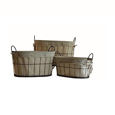 Baum 3 Piece Metal Basket Set, Black & Grey