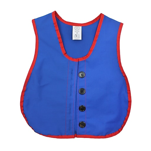 Childrens Factory Heavy Duty Cotton/Poly Manual Dexterity Button Vest, 3+ Yrs