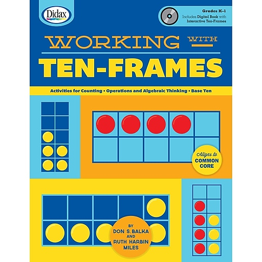 Didax Working with Ten-frames, Book and CD