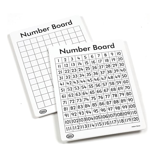 "Didax Write-On/Wipe-Off 120 Number Mat Set, 11"" x 13"", 10/Pack"