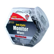 FALCON SAFETY® Anti-Static Monitor Wipes, 200/Pack