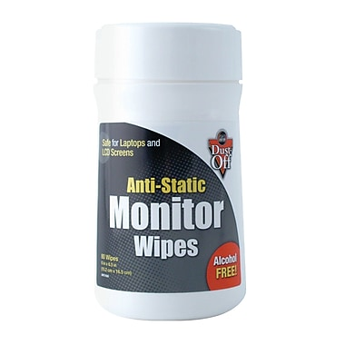 Falcon Safety Anti-Static Monitor Wipes, 2/Pack (FALDSCT)