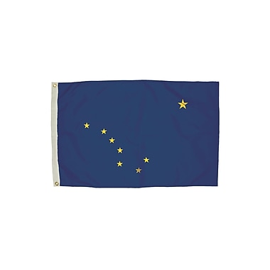 Flagzone Alaska Flag with Heading and Grommets, 3' x 5', Each