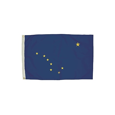 Flagzone Alaska Flag with Heading and Grommets, 3' x 5', Each