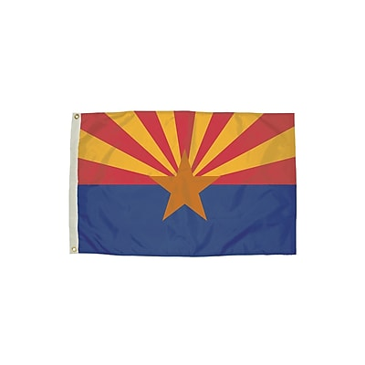 Flagzone Arizona Flag with Heading and Grommets, 3' x 5', Each