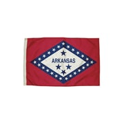Flagzone Arkansas Flag with Heading and Grommets, 3' x 5', Each