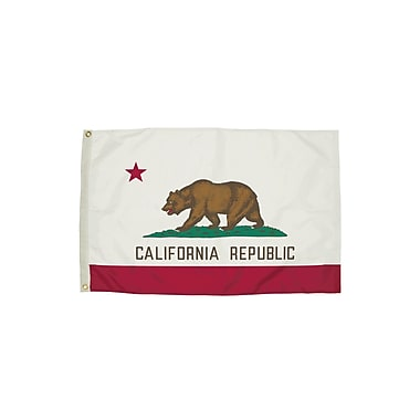 Flagzone California Flag with Heading And Grommets, 3' x 5' (FZ-2042051)