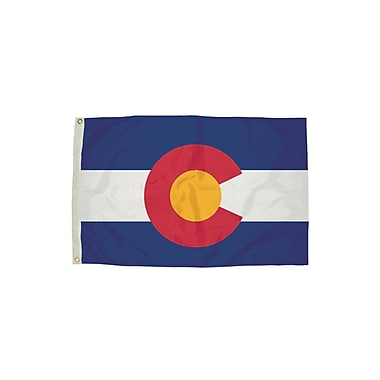 Flagzone Colorado Flag with Heading And Grommets, 3' x 5' (FZ-2052051)